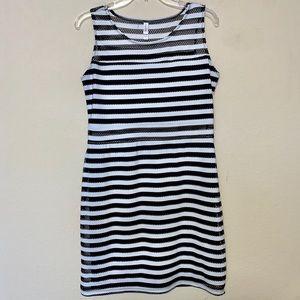 Xhilaration Black and White Striped Dress